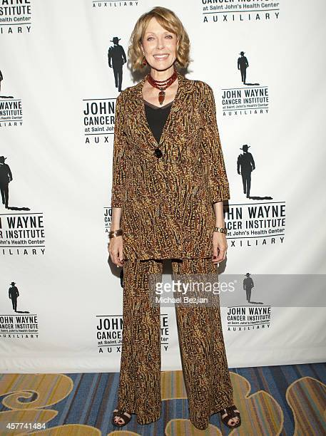 Susan Blakely arrives at the John Wayne Cancer Institute Luncheon at the Beverly Wilshire Four Seasons Hotel on October 23 2014 in Beverly Hills...