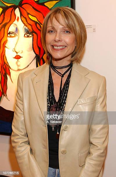 Susan Blakely during Sally Kirkland's OneWoman Art Show to Benefit The Institute for Individual and World Peace at Risk Press Gallery in West...