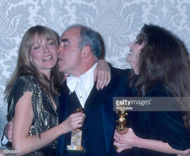 Susan Blakely, Ed Asner and Lesley Ann Warren attend 35th Annual Golden Globe Awards at the Beverly Hilton Hotel in Beverly Hills, California on...
