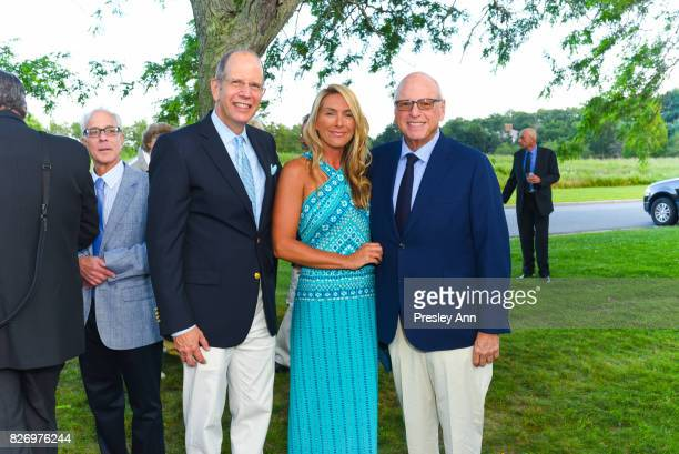 Susan Bourdeau Howard Lorber and Bob Chaloner attend Southampton Hospital 59th Annual Summer Party on August 5 2017 in Southampton New York