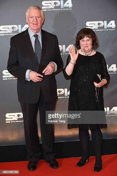 Susan Boyle and Lawrie McMenemy attend the BBC Sports Personality of the Year awards at The Hydro on December 14 2014 in Glasgow Scotland