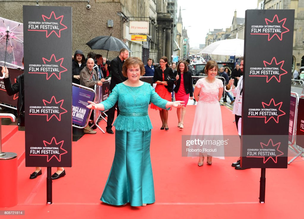 Susan Boyle attends the world premiere for 'England is mine' and closing event of the 71st Edinburgh International Film Festival at Festival Theatre on July 2, 2017 in Edinburgh, Scotland.