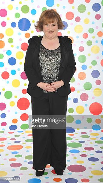 Susan Boyle backstage during BBC Children in Need on November 18 2011 in London England