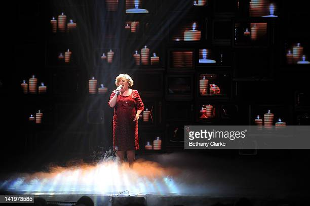 Susan Boyle makes a guest appearance on the Newcastle Theatre Royal stage in the World Premiere of 'I Dreamed A Dream' on March 27 2012 in Newcastle...