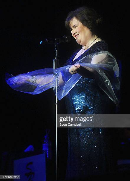 Susan Boyle performs at the Music Hall during her first tour on July 4 2013 in Aberdeen Scotland