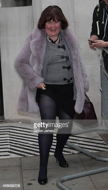 Susan Boyle sighting at the BBC radio two studio on November 16 2014 in London England