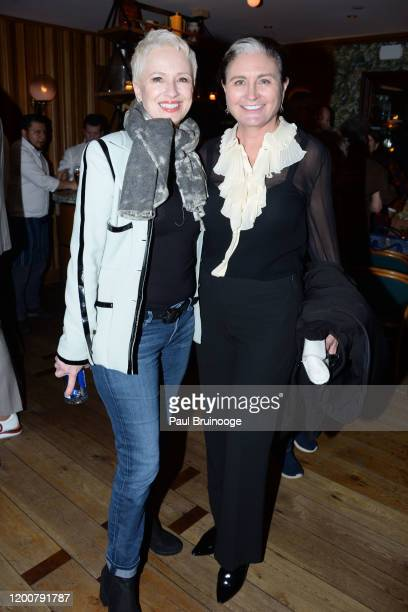 Susan Bozek and Amanda Burch attend MAC Nordstrom And The CFDA Host The After Party For The Times Of Bill Cunningham at Bistrot Leo on February 13...