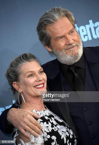 Susan Bridges and actor Jeff Bridges attend The 22nd Annual Critics' Choice Awards at Barker Hangar on December 11 2016 in Santa Monica California