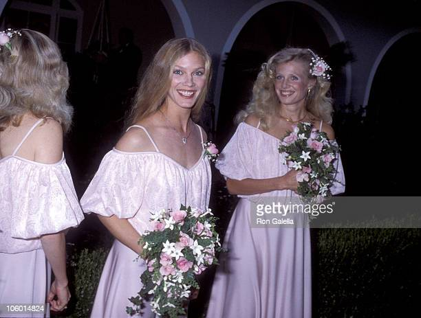 Susan Bridges and bridesmaids during Cindy Bridges' Wedding August 31 1979 at Bel Air Hotel in Bel Air California United States