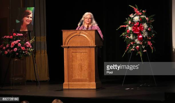 Susan Bro mother to Heather Heyer speaks during a memorial for her daughter at the Paramount Theater on August 16 2017 in Charlottesville Va Heyer...