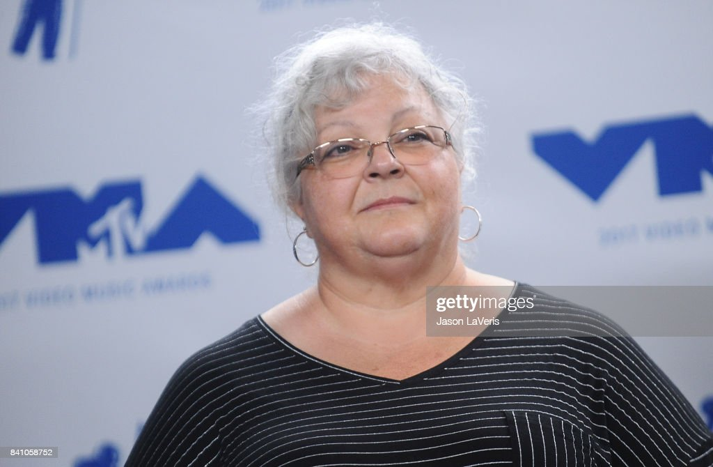 Susan Bro poses in the press room at the 2017 MTV Video Music Awards at The Forum on August 27, 2017 in Inglewood, California.