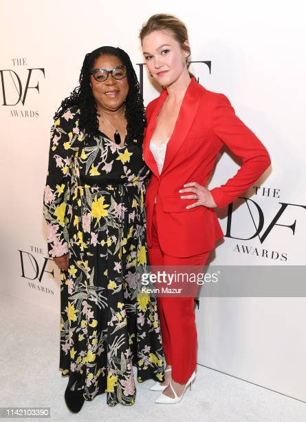 Susan Burton and Julia Stiles attend 10th Annual DVF Awards at Brooklyn Museum on April 11 2019 in New York City