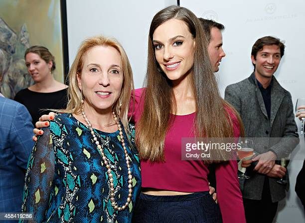 Susan Cohn Rockefeller and fashion designer Ariana Rockefeller attend the opening reception to celebrate Ariana Rockefeller Fall/Winter 2014...