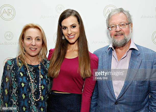 Susan Cohn Rockefeller fashion designer Ariana Rockefeller and David Rockefeller Jr attend the opening reception to celebrate Ariana Rockefeller...