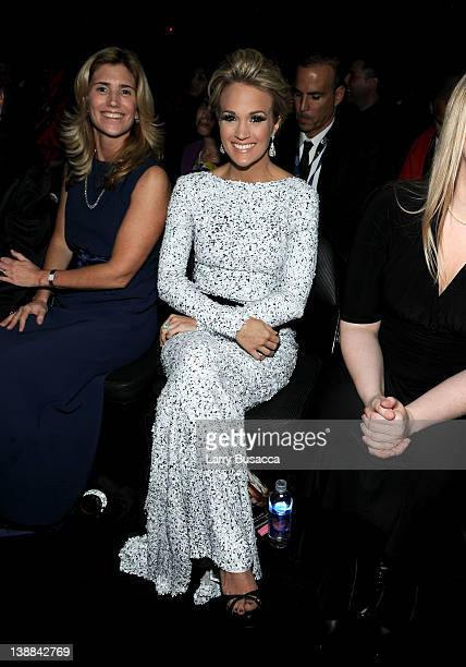 Susan Crow and singer Carrie Underwood attend the 54th Annual GRAMMY Awards held at Staples Center on February 12 2012 in Los Angeles California