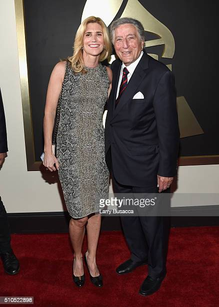 Susan Crow and singer Tony Bennett attend The 58th GRAMMY Awards at Staples Center on February 15 2016 in Los Angeles California