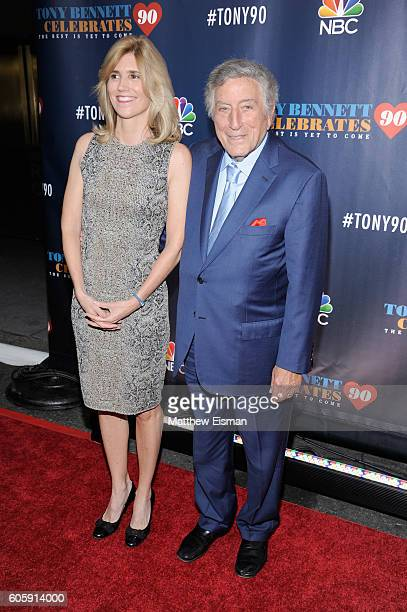 Susan Crow and singer Tony Bennett attends 'Tony Bennett Celebrates 90 The Best Is Yet To Come' at Radio City Music Hall on September 15 2016 in New...
