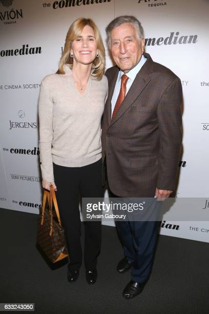 Susan Crow and Tony Bennett attend The Cinema Society with Avion and Jergens Host a Screening of Sony Pictures Classics' The Comedian on January 31...