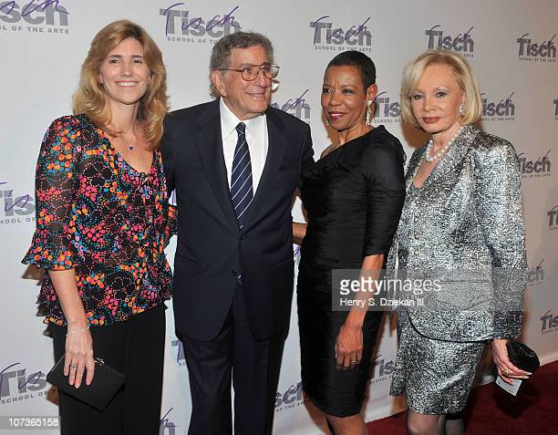 Susan Crow singer Tony Bennett Dean Mary Schmidt Campbell and Iris Cantor attend The Face of Tisch 2010 Gala at Frederick P Rose Hall Jazz at Lincoln...