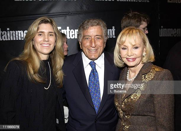 Susan Crow Tony Bennett and Iris Canter during Entertainment Weekly 9th Annual Academy Awards Viewing Party at Elaine's in New York City New York...