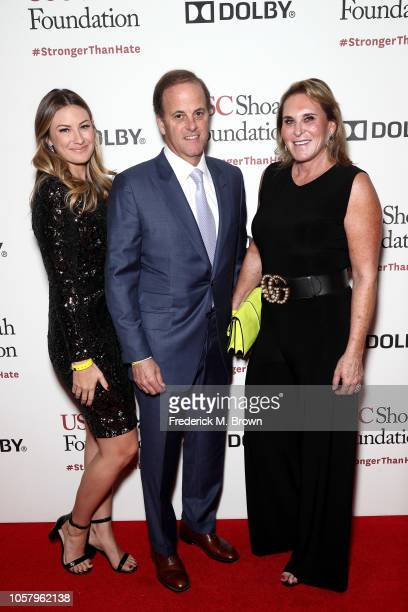 Susan Crown Will Crown and Carly Crown attend the Ambassadors For Humanity Gala Benefiting USC Shoah Foundation Honoring Rita Wilson And Tom Hanks at...