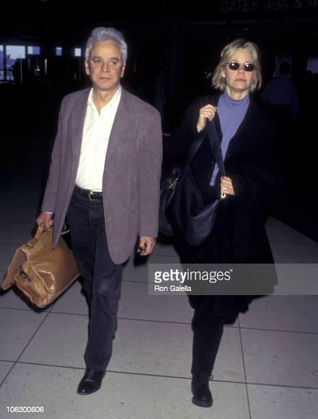 Susan Dey and Bernard Sofronski during Susan Dey and Bernard Sofronski at Los Angeles International Airport at Los Angeles International Airport in...