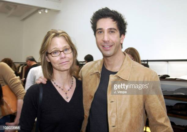 Susan Dey and David Schwimmer during John Varvatos Celebrates Opening of Los Angeles Boutique with Event to Benefit Stuart House at John Varvatos...