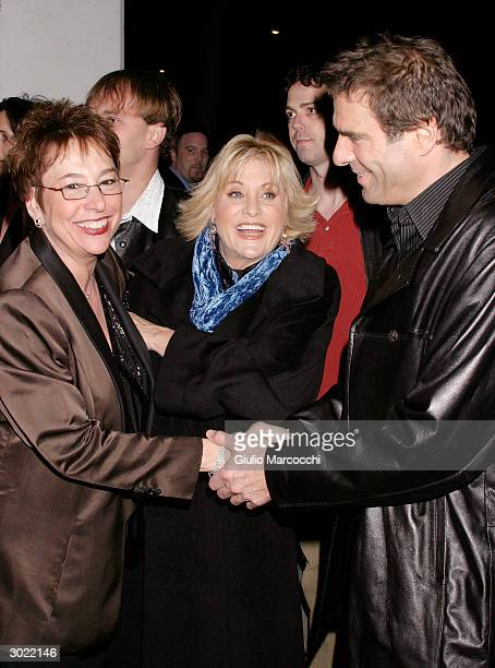Susan Dietz Lorna Luft and Colin Freeman attend the Opening Night Performance of Afterbirth Kathy and Mo's Greatest Hits February 27 2004 at Canon...