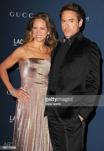 Susan Downey and Robert Downey Jr arrives at the LACMA 2013 Art Film Gala at LACMA on November 2 2013 in Los Angeles California