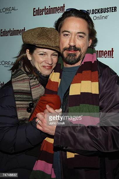 Susan Downey and Robert Downey Jr at the The Shop in Park City Utah