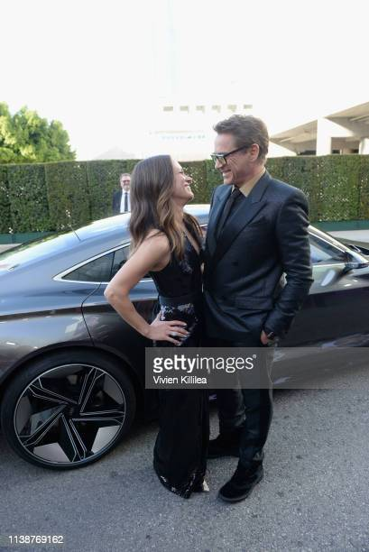 """Susan Downey and Robert Downey Jr. Attend Audi Arrives At The World Premiere Of """"Avengers: Endgame"""" on April 22, 2019 in Hollywood, California."""