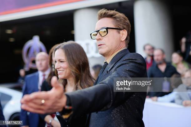 """Susan Downey and Robert Downey Jr. Attend the Los Angeles World Premiere of Marvel Studios' """"Avengers: Endgame"""" at the Los Angeles Convention Center..."""