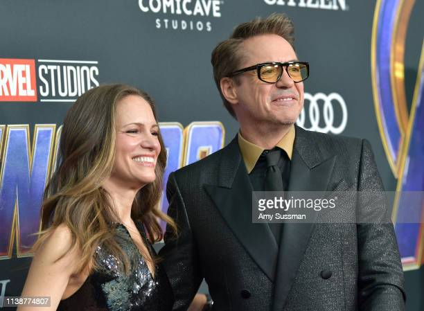 "Susan Downey and Robert Downey Jr. Attend the world premiere of Walt Disney Studios Motion Pictures ""Avengers: Endgame"" at the Los Angeles Convention..."