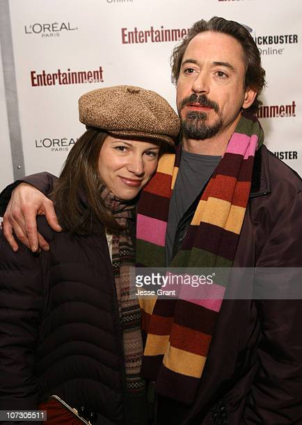 Susan Downey and Robert Downey Jr during 2006 Sundance Film Festival Entertainment Weekly Sundance Opening Weekend Party Arrivals at The Shop in Park...