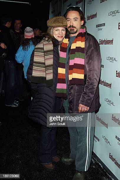 Susan Downey and Robert Downey Jr during 2006 Sundance Film Festival Entertainment Weekly Sundance Opening Weekend Party Red Carpet at The Shop in...