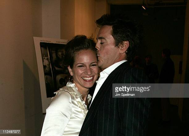 """Susan Downey and Robert Downey, Jr. During """"FUR: An Imaginary Portrait of Diane Arbus"""" New York Premiere - After Party at The Phillips de Pury..."""