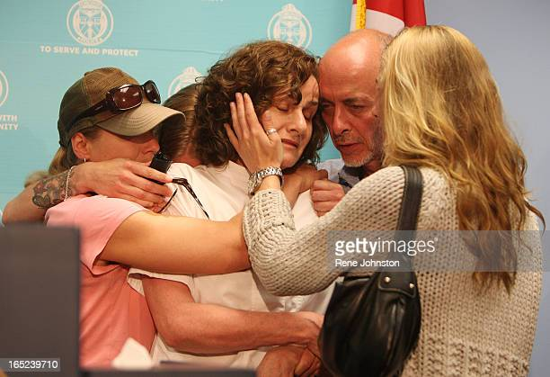 MARTIN Susan Dudeck is comforted by family from left Georgie Martin Ally Martin Susan Alan Dudeck and Syd Martin after they pair of mothers made...