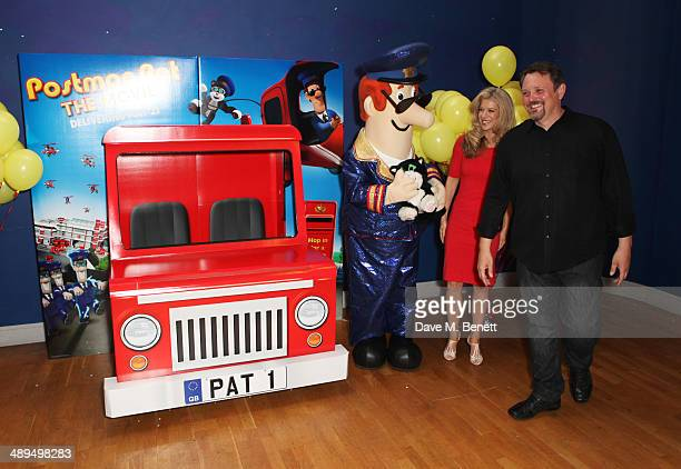 Susan Duerden and director Mike Disa attend the World Premiere of 'Postman Pat' at Odeon West End on May 11 2014 in London England