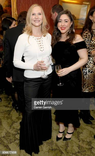 Susan Duffy and Dena Giannini attend as Edward Enninful and Kate Moss celebrate Giovanni Morelli as the new creative director of Stuart Weitzman with...
