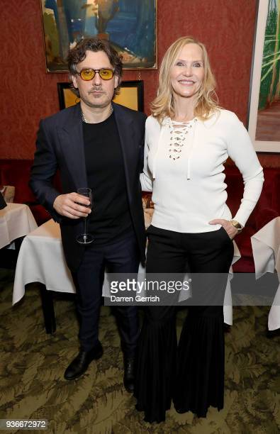 Susan Duffy and Giovanni Morelli attend as Edward Enninful and Kate Moss celebrate Giovanni Morelli as the new creative director of Stuart Weitzman...