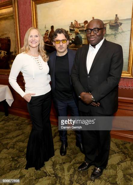 Susan Duffy Giovanni Morelli and Edward Enninful attend as Edward Enninful and Kate Moss celebrate Giovanni Morelli as the new creative director of...