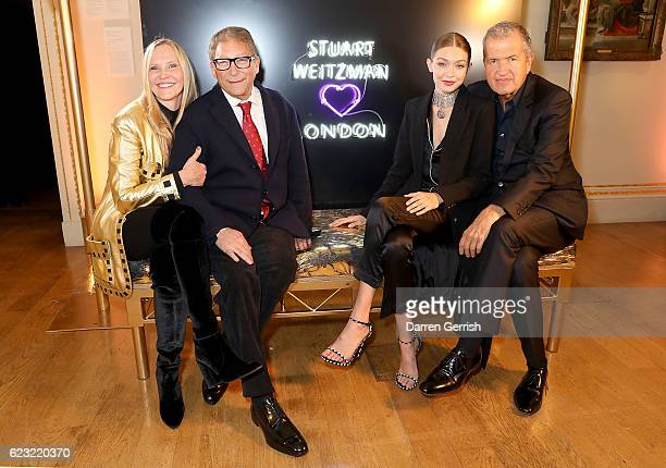 Susan Duffy Stuart Weitzman Gigi Hadid and Mario Testino attend a private dinner hosted by Stuart Weitzman and Gigi Hadid to celebrate the opening of...