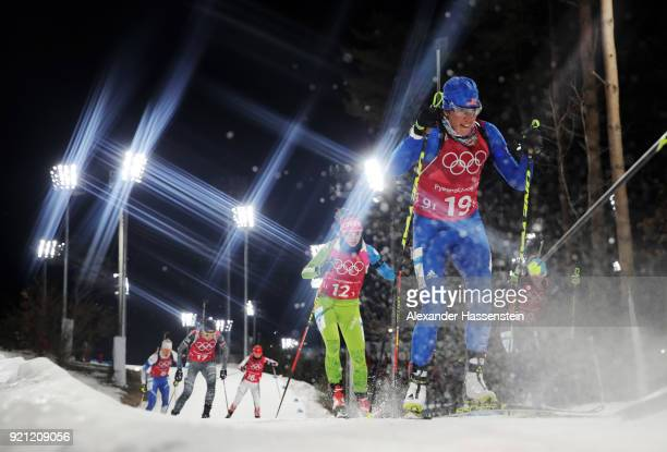 Susan Dunklee of the United States competes during the Biathlon 2x6km Women 2x75km Men Mixed Relay on day 11 of the PyeongChang 2018 Winter Olympic...