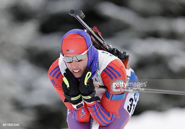 Susan Dunklee of United States competes during the 7.5 km women's Sprint on January 6, 2017 in Oberhof, Germany.