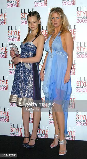 Susan Eldridge winner of the Model Award and Rachel Hunter
