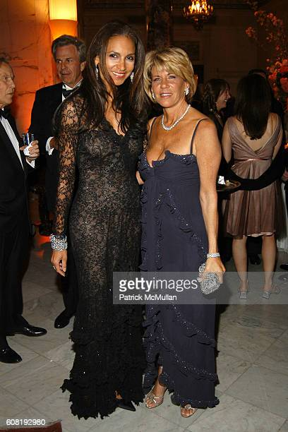 Susan Fales Hill and Angela Kumble attend STEVEN ANGELA KUMBLE'S Wedding Celebration at Metropolitan Club on April 13 2007 in New York City