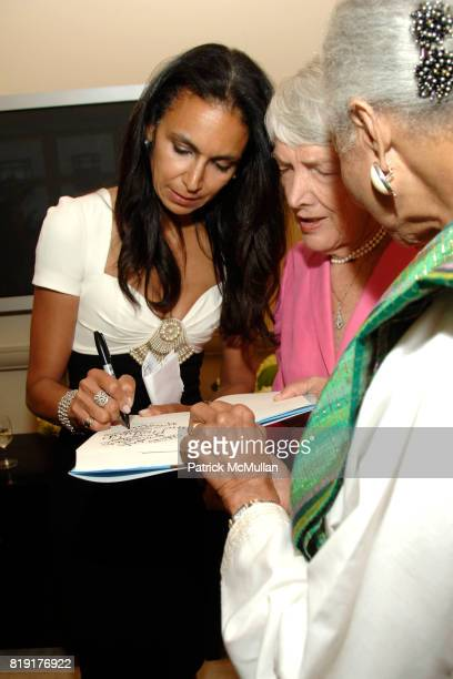 Susan FalesHill Elsa Honig Fine and Grace Hope Hill attend Susan FalesHill's ONE FLIGHT UP Book Launch Party at 15 Central Park West on July 21st...