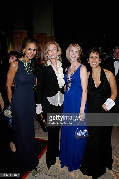 Susan FalesHill Jana Avis Jennifer Banks Oughourlian and Cesaltine Gregorio attend LA VIE EN VERT GALA 2008 Lycee Francais de New York at Cipriani...