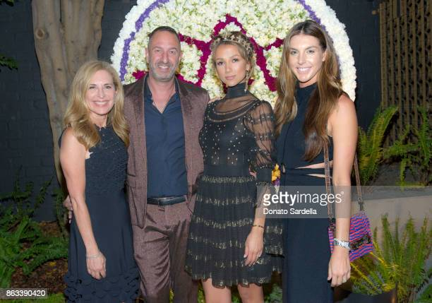 Susan Feldman Christos Garnikos Amie Satchu and Alle Fister at Living Beauty 'The Gift' Photo Exhibit at The Buterbaugh Gallery on October 19 2017 in...