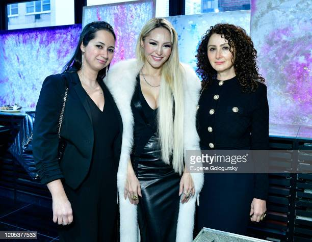 Susan Finkelstein Lillian Gorbachincky and Angela Arabov attend the Andrea Bocelli Foundation Lillian Gorbachincky Present First Annual Luncheon at...
